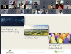 Screenshot des Bildschirms während der Konferenz in ZOOM.