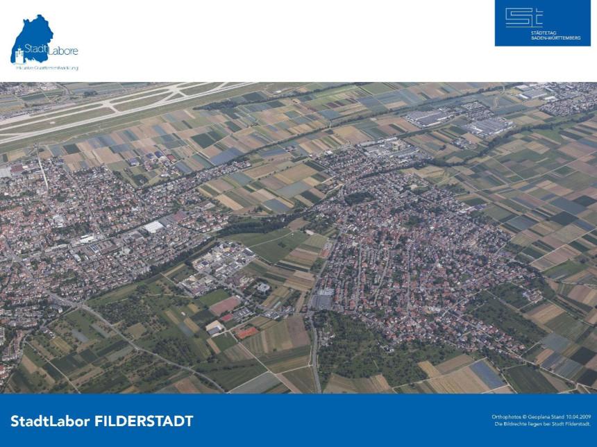 Luftbild des Stadtteils Sielmingen in Filderstadt.