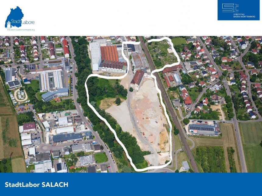Luftbild des Salacher Quartiers.